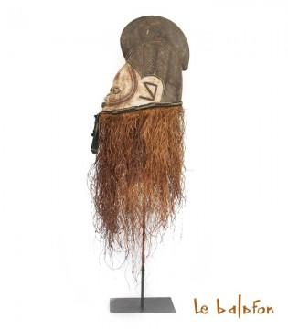 Masque africain casque Yoruba