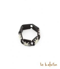 Bracelet étoile en os de batik