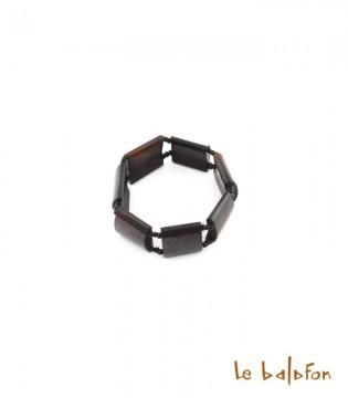 Bracelet marron uni en os