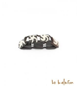 Bracelet soleil en os de batik