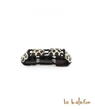 Bracelet girafe en os de batik