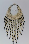 Collier plastron franges en cauris
