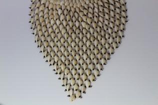 Collier plastron en cauris