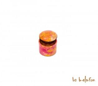 boîte en cuir tie and dye
