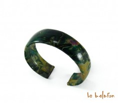 Bracelet en cuir tie and dye