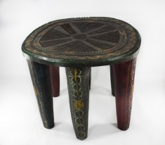 Tabouret Nupé traditionnel