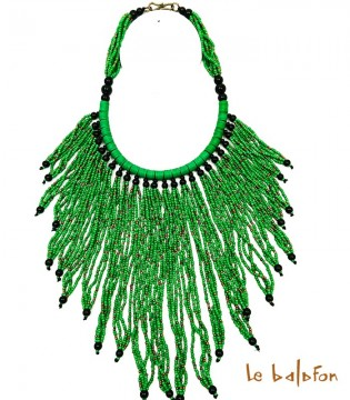 collier ethnique franges