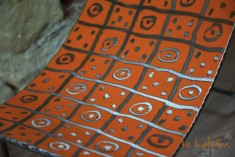 tabouret métal ethnique