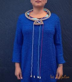 Collier plastron ethnique Massaï