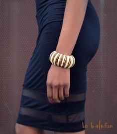 bracelet ethnique large en os