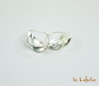 Boucles d'oreilles Peul créoles argenté