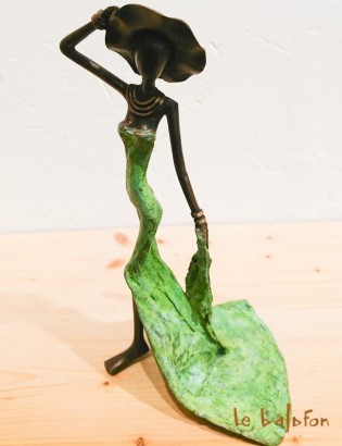 "Sculpture bronze ""la traîne"""